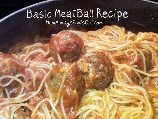 basic meatball recipe - perfect to make ahead & freeze!