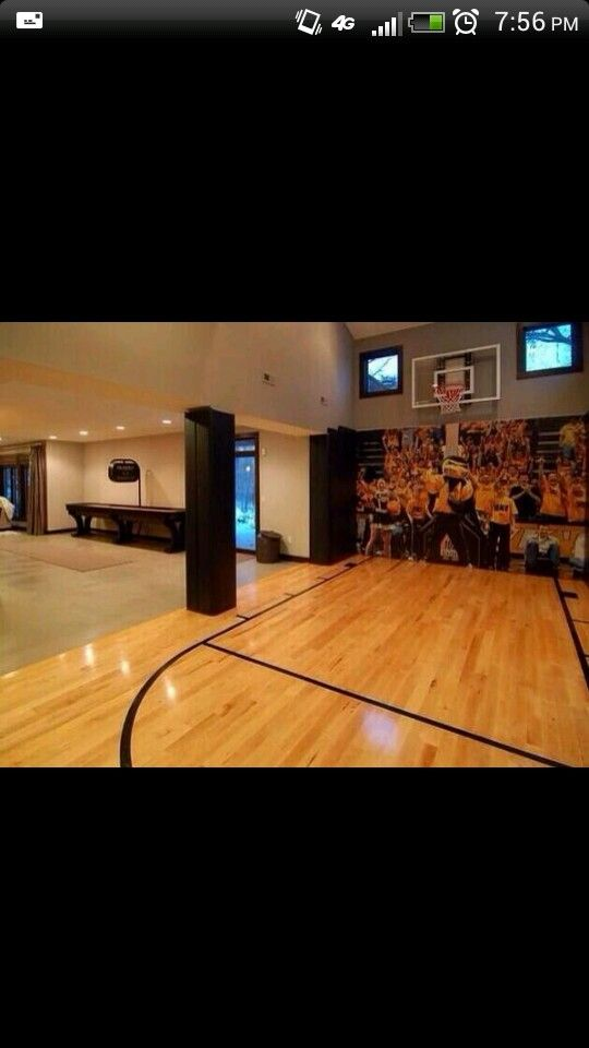 Indoor Basketball Court Future House Pinterest