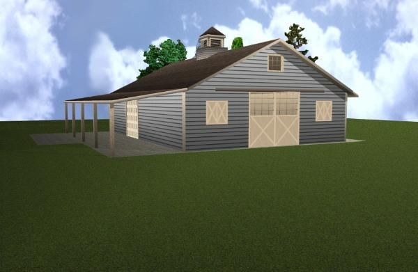 Two stall horse barn plan horses pinterest for 2 stall horse barn plans