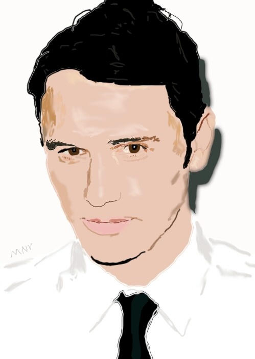 My drawing of James Fr...