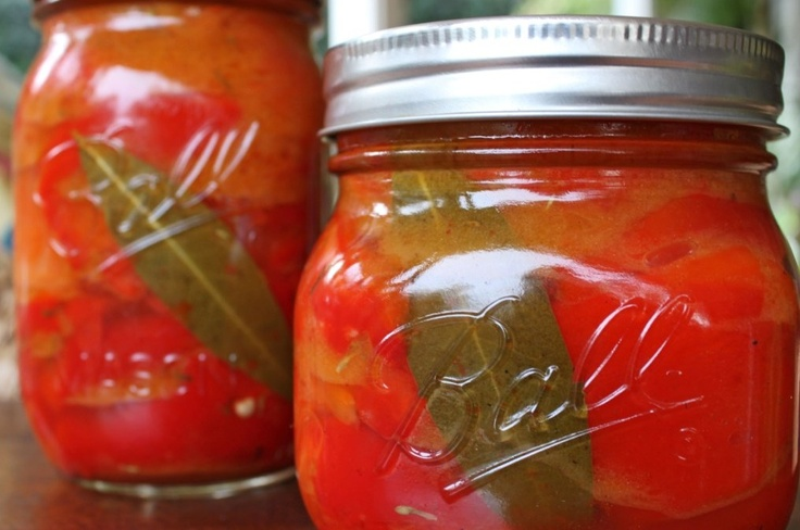 Pimientos Rojos (Marinated Roasted Red Peppers) « Hitchhiking to ...