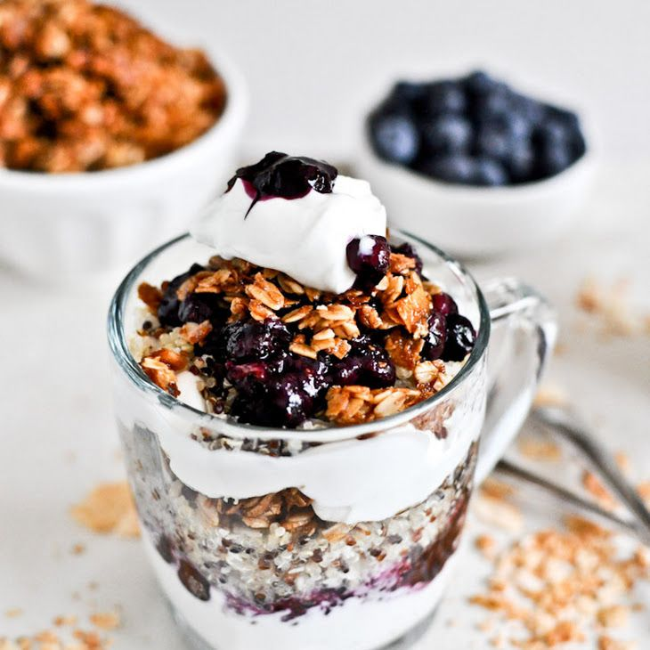 holyquinoa Roasted Blueberry Coconut Quinoa Parfaits with Coconut ...