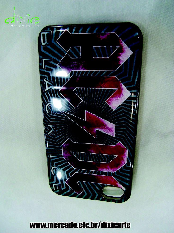 Case Iphone 4 AC/DC mercado.etc.br/dixiearte