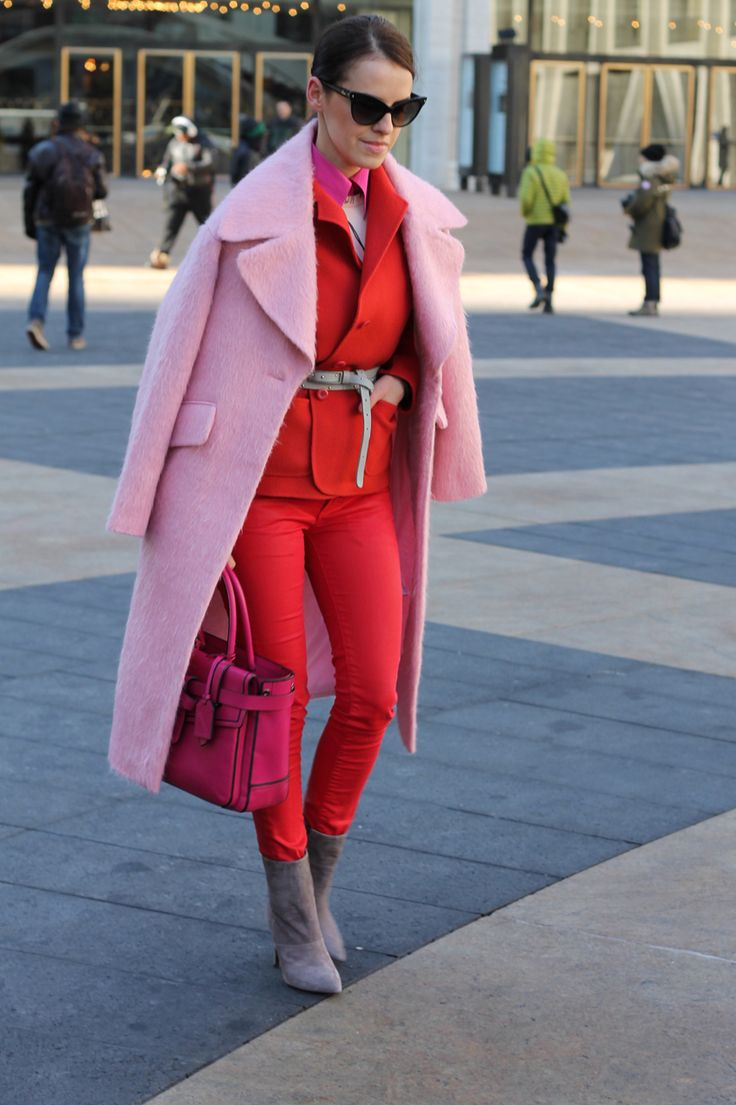 popping pink + red in NYC.