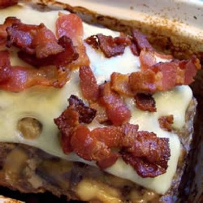 ... food #cooking Bacon Mushroom Swiss Meatloaf - Click image to