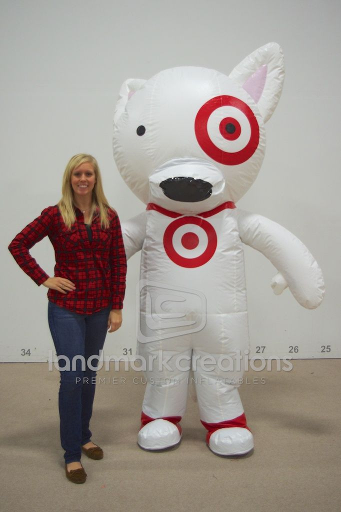 Target 39 s bullseye mascot dog costume inflatables What kind of dog is the target mascot