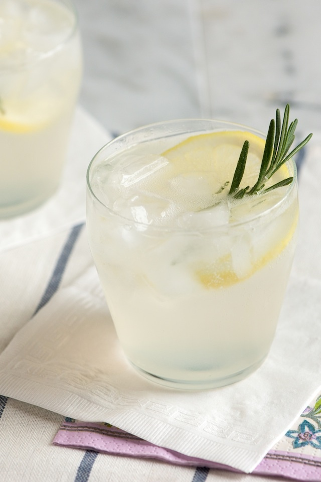 Rosemary Gin Fizz Cocktail Recipe from www.inspiredtaste.net #cocktail ...