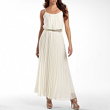 Bisou Bisou® Pleated Maxi Dress - jcpenney