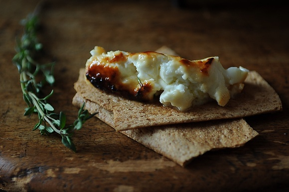 Roasted Feta with Thyme Honey | fork, knife and spoon | Pinterest