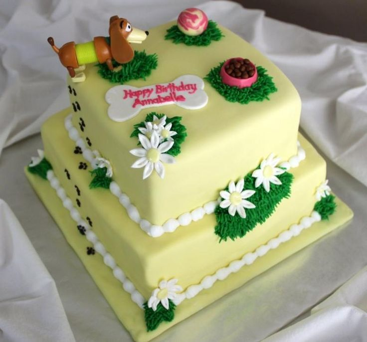 Dog Birthday Cake Decorating Ideas : Girl birthday cake with a dog Cake decorating ideas ...