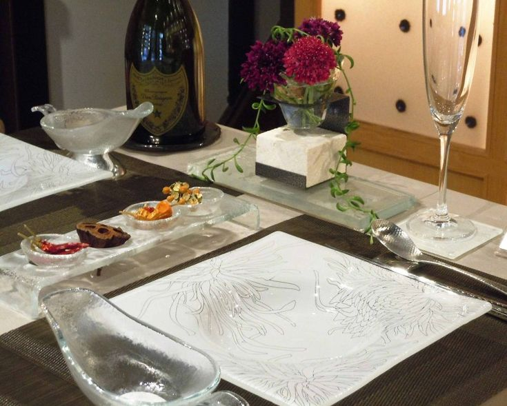 Pin By Myglassstudio On Fine Dining Table Setting Pinterest