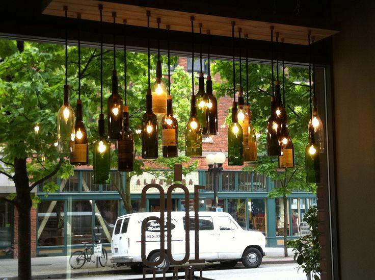 Wine bottle light fixture so creative michelle 39 s house pinterest - Wine bottle light fixtures ...