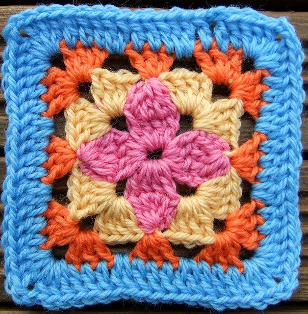 Petal Afghan Block pattern
