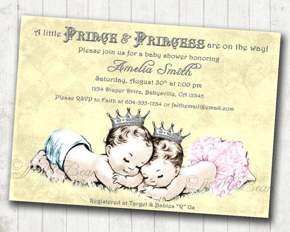 Prince Baby Shower Invitation as great invitations design
