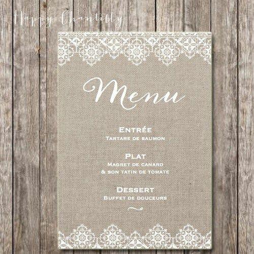 faire-part mariage original menu  Mariage Hippie Chic  Pinterest