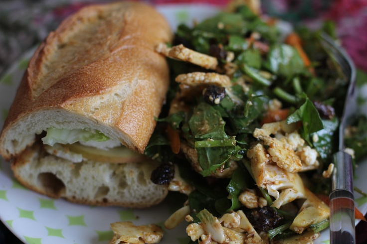 North African Cauliflower Salad and Heidi Sandwich Recipe