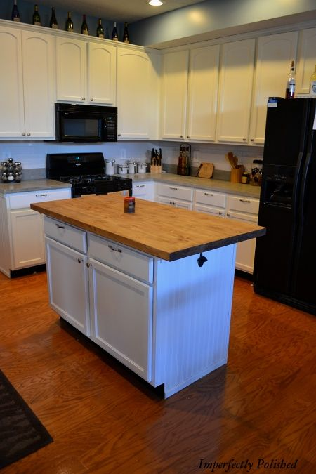 Ikea Kitchen Island Makeover ~ Kitchen Island Makeover (HoH71)  kitchen inspiration  Pinterest