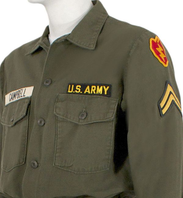 military uniform flag backwards