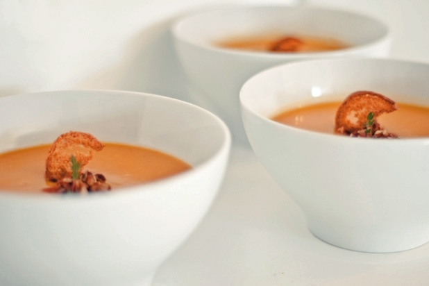 Roasted Butternut Squash and Leek Soup   Soup's On   Pinterest