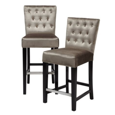 Lola Bar stool - Z Gallerie - pewter | D Kitchen and Butlers Pantry