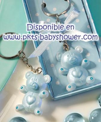 recuerdos para baby shower llavero osito azul disponible en www