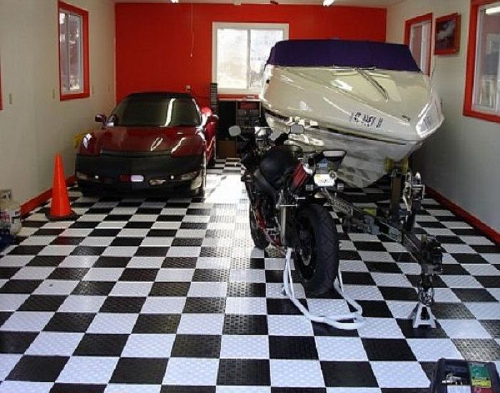 garage floor covering tile ideas