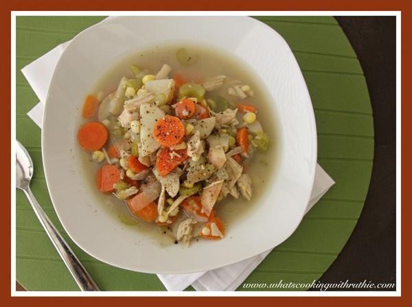 Leftover Turkey Soup (crock pot)