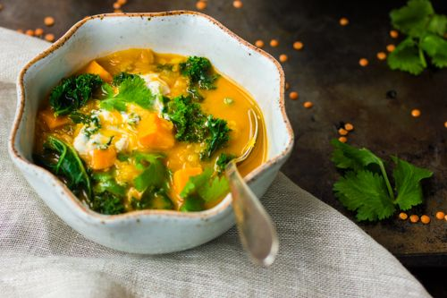 Curried Red Lentil, Kale and Sweet Potato Soup | Artisanal / Gourmand ...