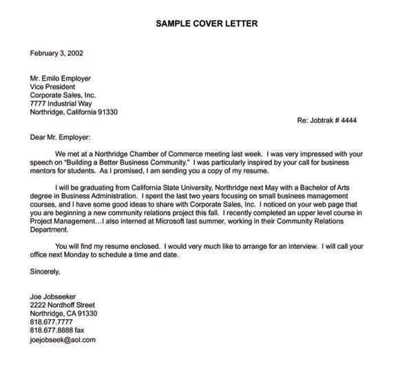 Cover Letter Examples For Engineering Internships