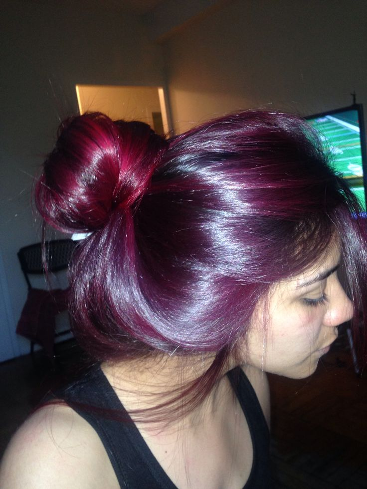 Magenta Hair Color  Dark Brown Hairs