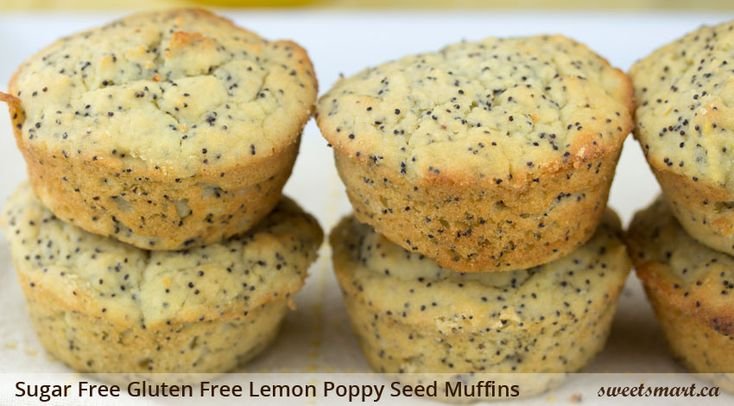 Sugar free gluten free lemon poppy seed muffins - these are so good! # ...
