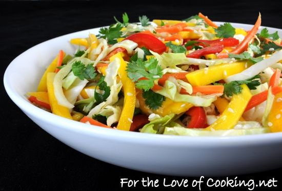 Asian Cabbage Mango Slaw | Healthy Eats | Pinterest