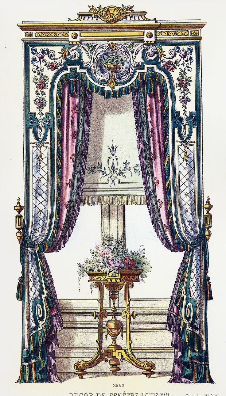 French curtains window treatments pinterest for 18th century window treatments