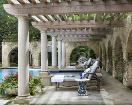 mediterranean style pergola dallas home pinterest. Black Bedroom Furniture Sets. Home Design Ideas