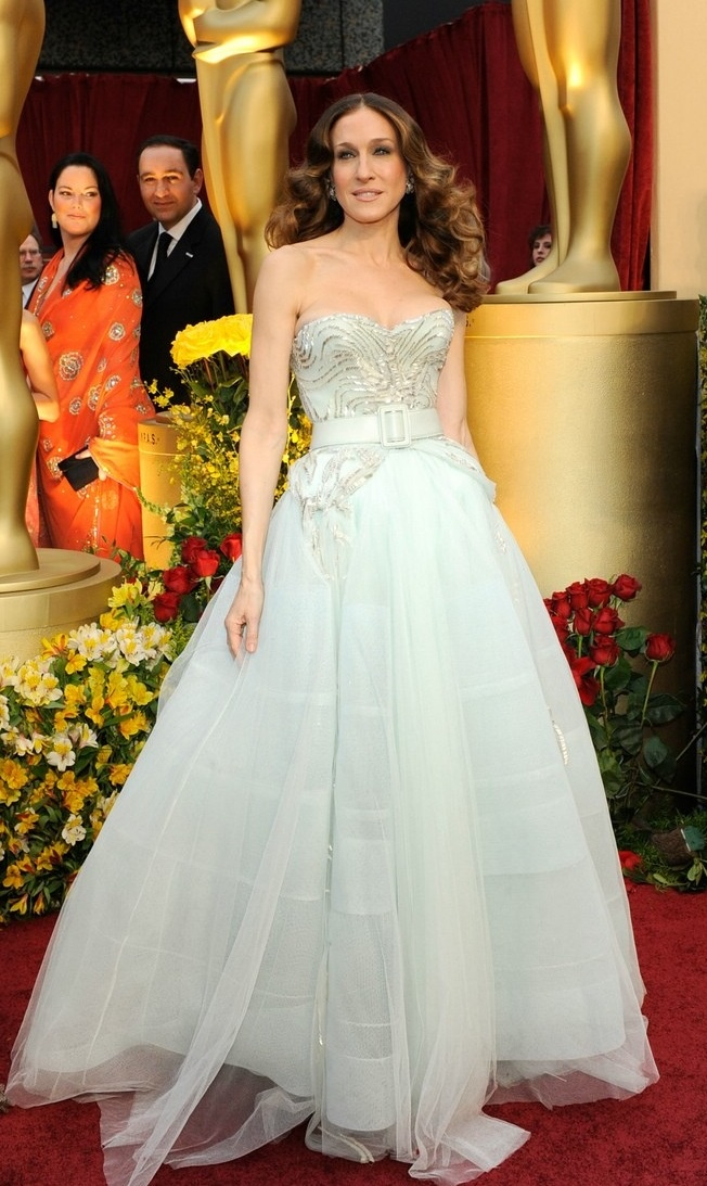 Sarah jessica parker satc carrie bradshaw oscars for Sarah jessica parker wedding dress