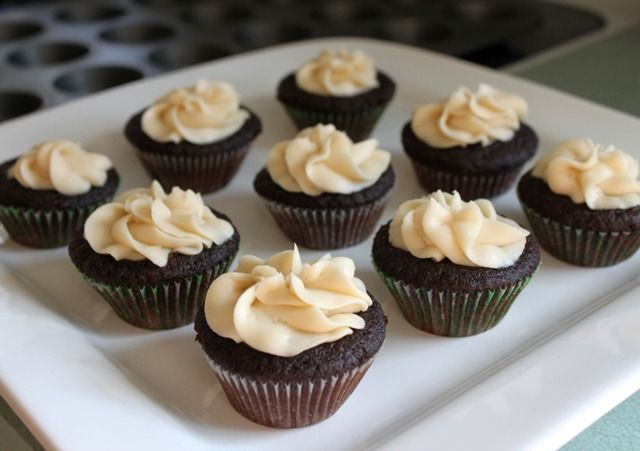 Guinness Chocolate Cupcakes with Bailey's Irish Cream Buttercream ...