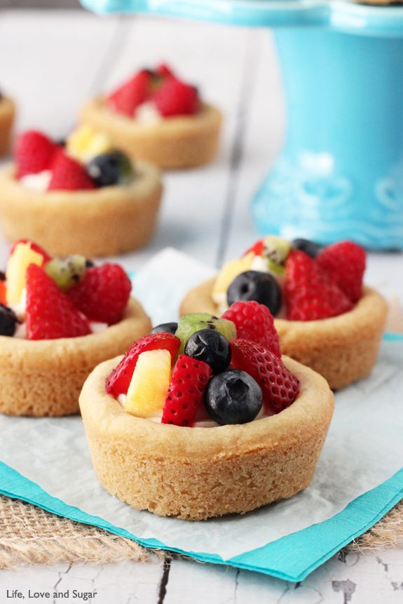 Fruit Cheesecake Sugar Cookie Cups | Recipe