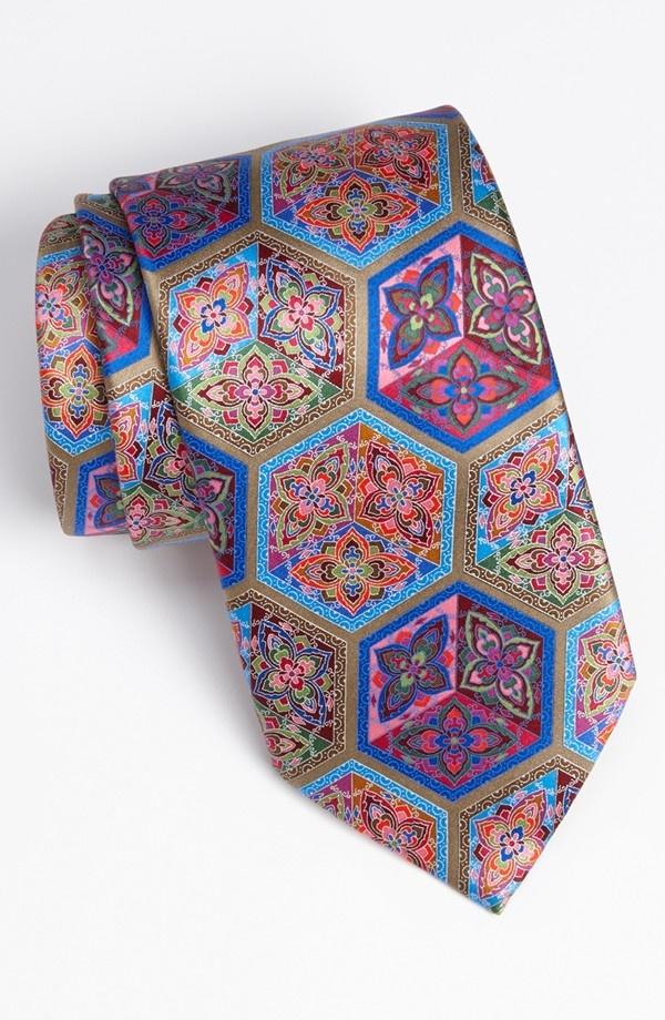 Ermenegildo Zegna 'Quindici' Print Silk Tie. Nordstrom.