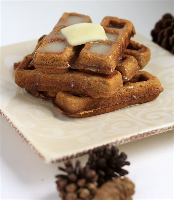 Gingerbread waffles | Up and At'em | Pinterest