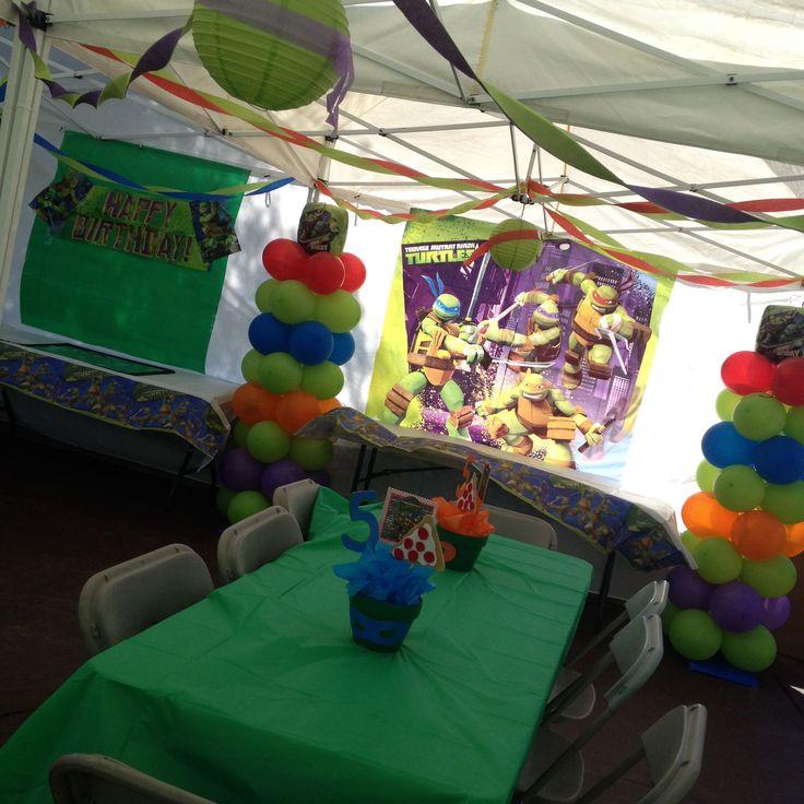 Ninja turtle party decoration ninja turtle party pinterest for Tmnt decorations