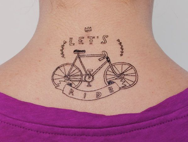 Temporary tattoos for bike lovers