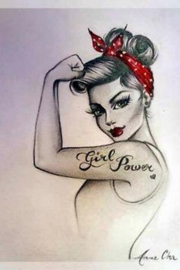 Pin Up Girl Drawings Tumblr Pin up girl tattoo.