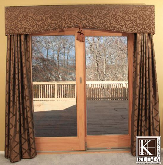 patio door curtains not my style but i like the idea