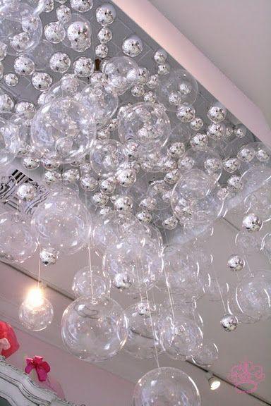 Bubble chandelier very cool diy light fixtures pinterest for Cool diy chandeliers
