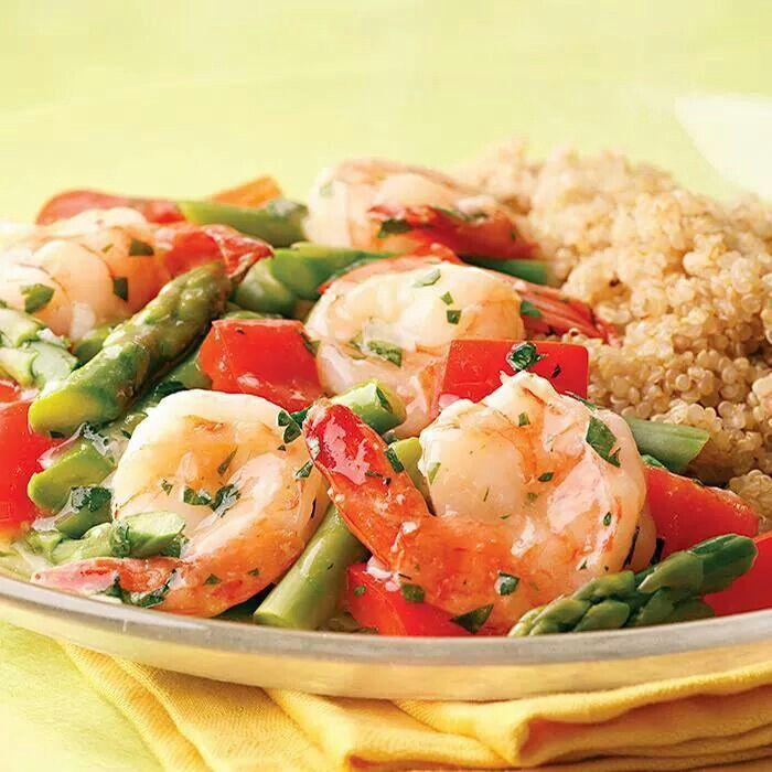 Lemon garlic shrimp and vegetables   recipes   Pinterest