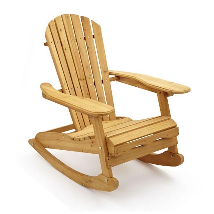 Bowland Garden Patio Wooden Adirondack Rocking Chair