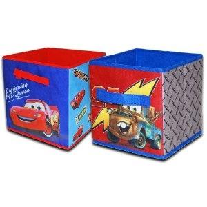 Amazon com disney cars storage cubes 2 pack toys amp games