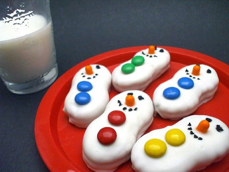 Nutter butter cookies covered with melted white chocolate. M&ms for ...