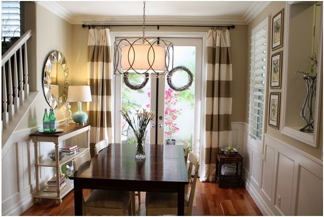 Horizontal striped curtains for the home pinterest