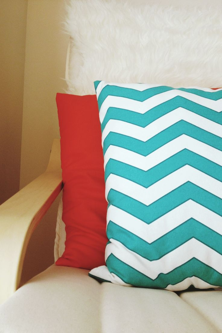 Ikea Mandal Headboard King Bed ~ IKEA Poang Chair with Chevron Pillows  Abode  Pinterest
